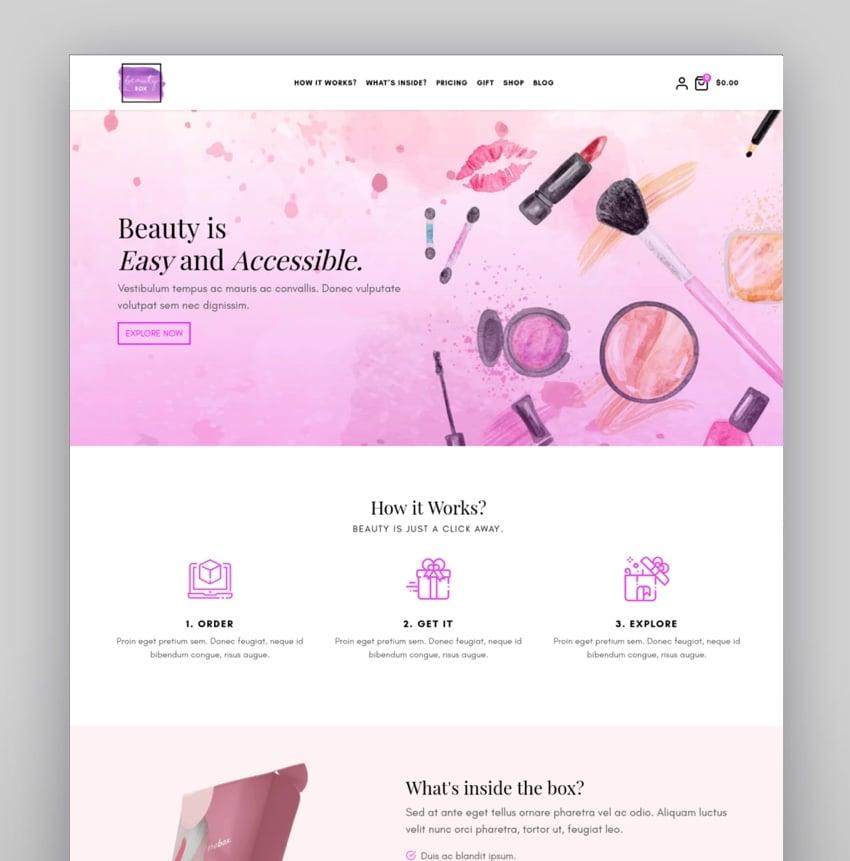 thebox  Subscription Box WordPress Theme