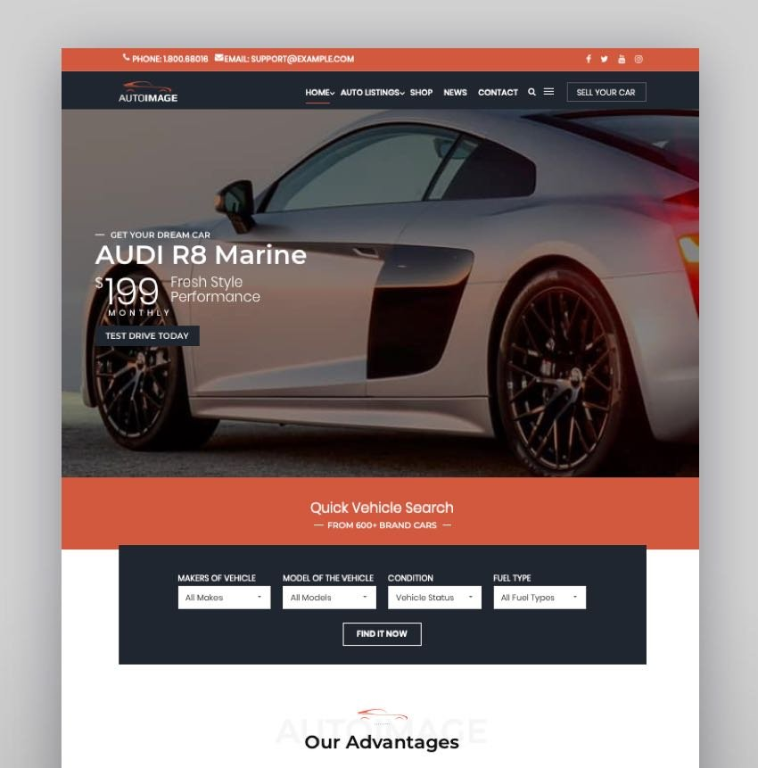Autoimage Car Dealer The Best Car Dealer Automotive Responsive WordPress