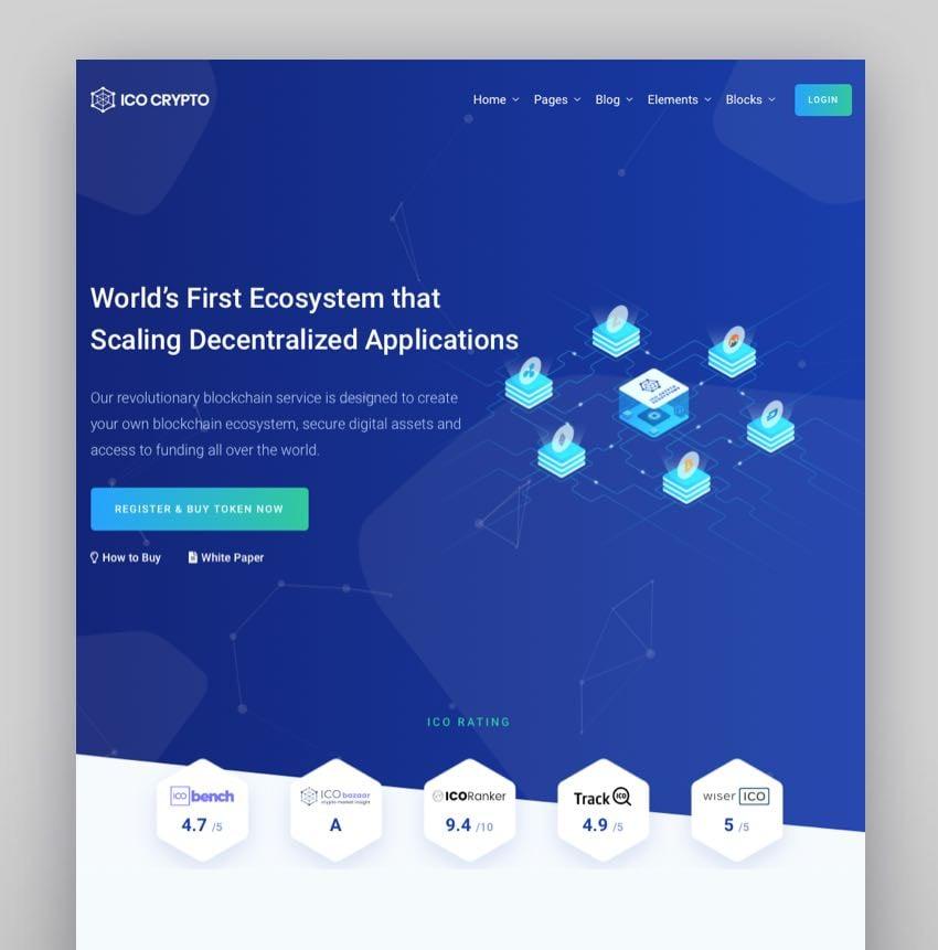 Monyxi - Tema de WordPress para consultora e ICO de criptomonedas