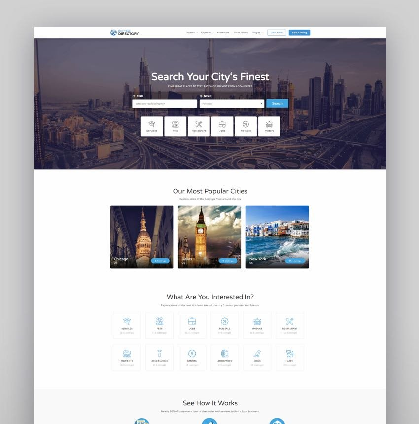 Directory  Multi-purpose WordPress Theme