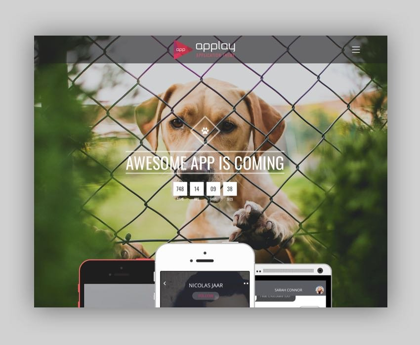 Applay - WordPress App Showcase  App Store Theme