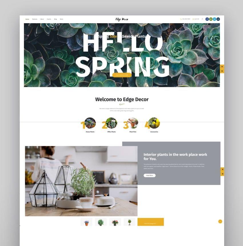 Edge Decor - A Modern Gardening  Landscaping WordPress Theme
