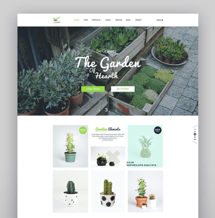 BeGreen - Multi-Purpose WordPress Theme for Planter - Landscaping- Gardening