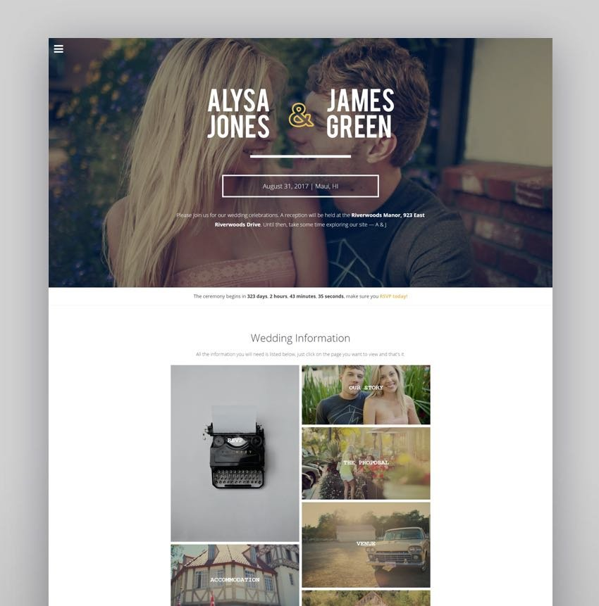 Cherished - Responsive Wedding WordPress Theme