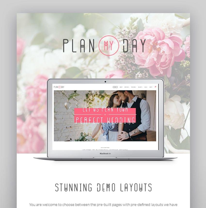 Plan My Day - Wedding Event Planning Agency WordPress Theme
