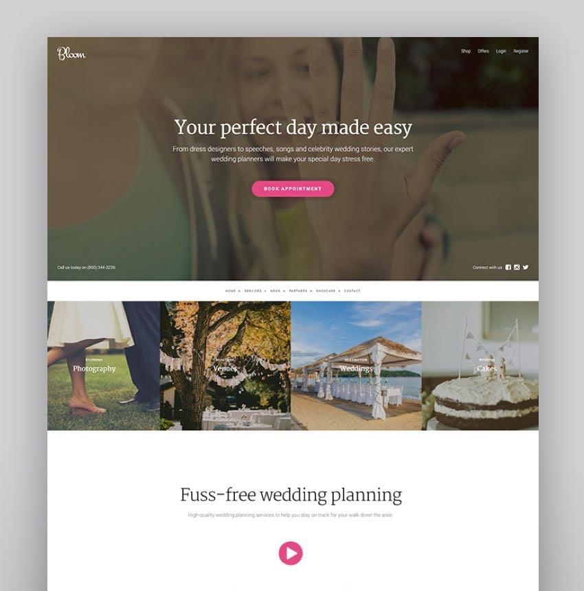 Bloom - WordPress Wedding Theme