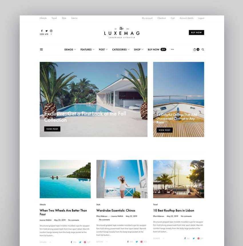 Authentic - Lifestyle Blog Magazine WordPress Theme