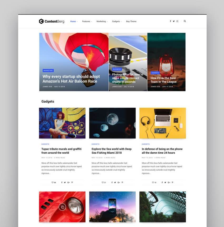 Contentberg - Content Marketing Personal Blog