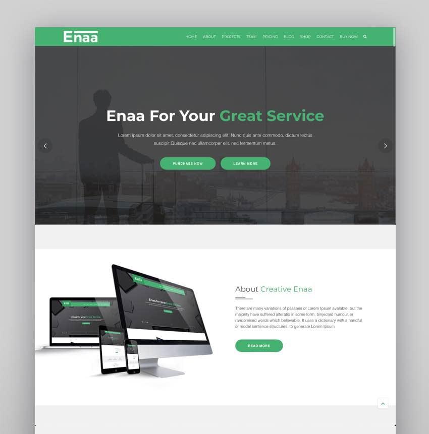 Enaa - One Page Corporate WordPress Theme