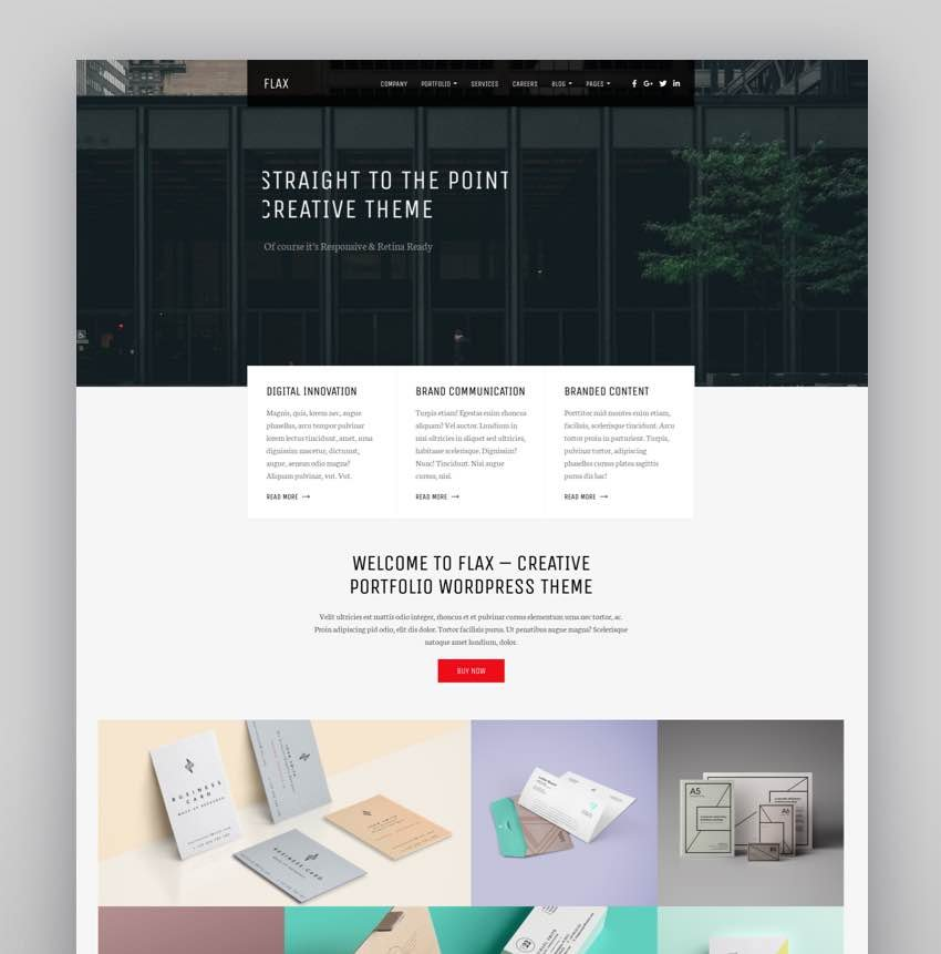 Flax - A Multi-Purpose Portfolio WordPress Theme