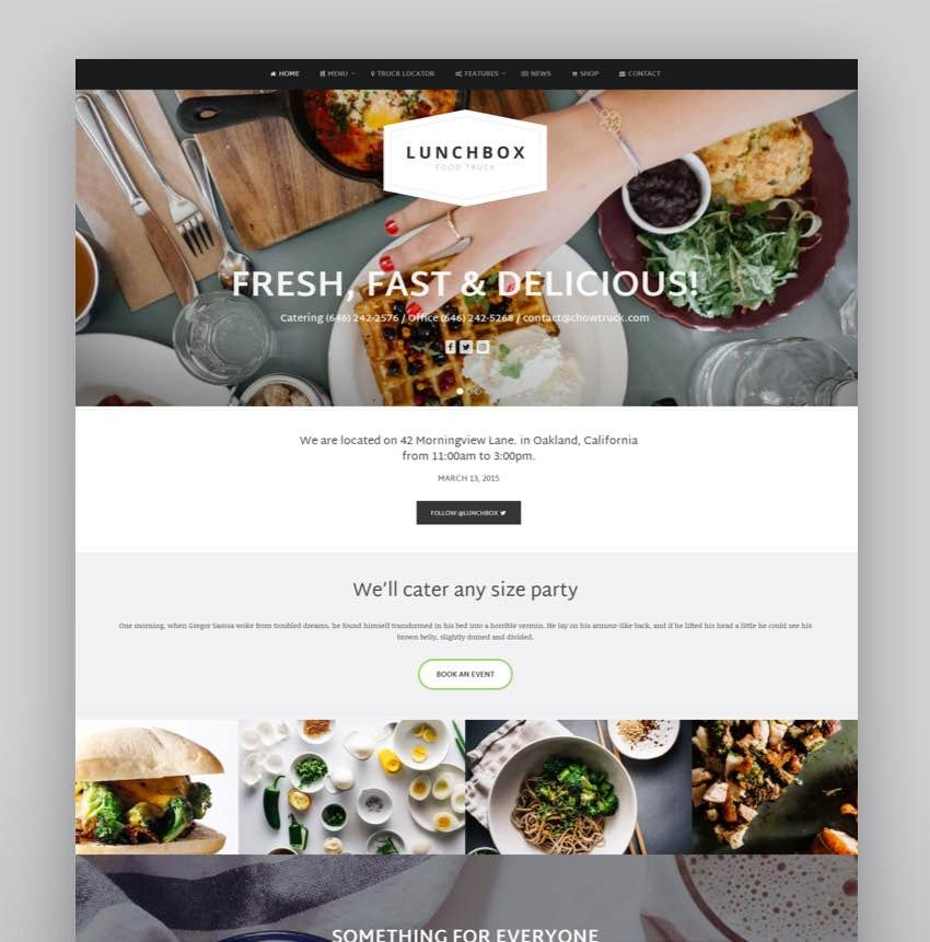 Lunchbox - Food Truck  Restaurant Theme