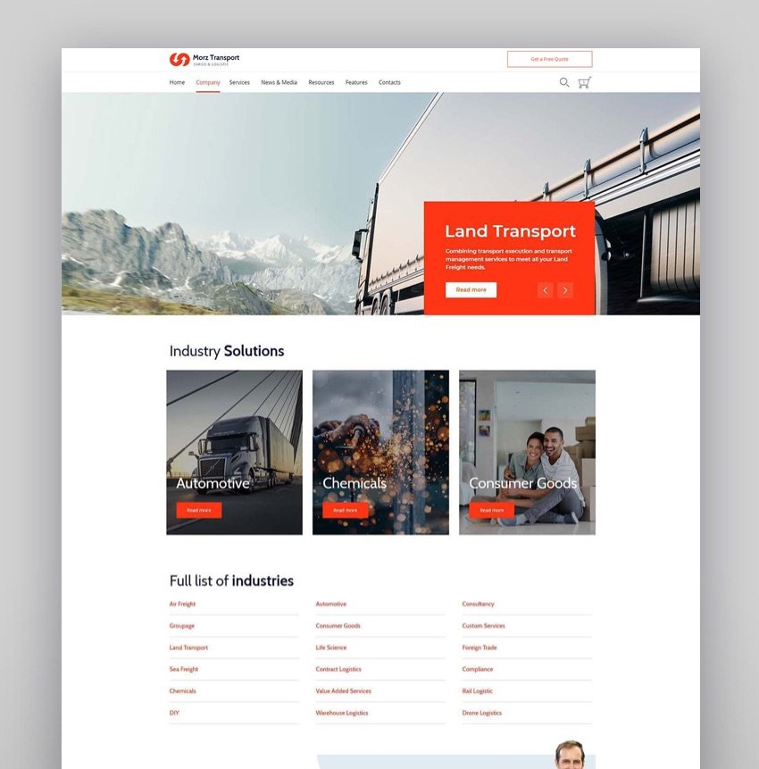 Morz - Transport Cargo Logistics WordPress