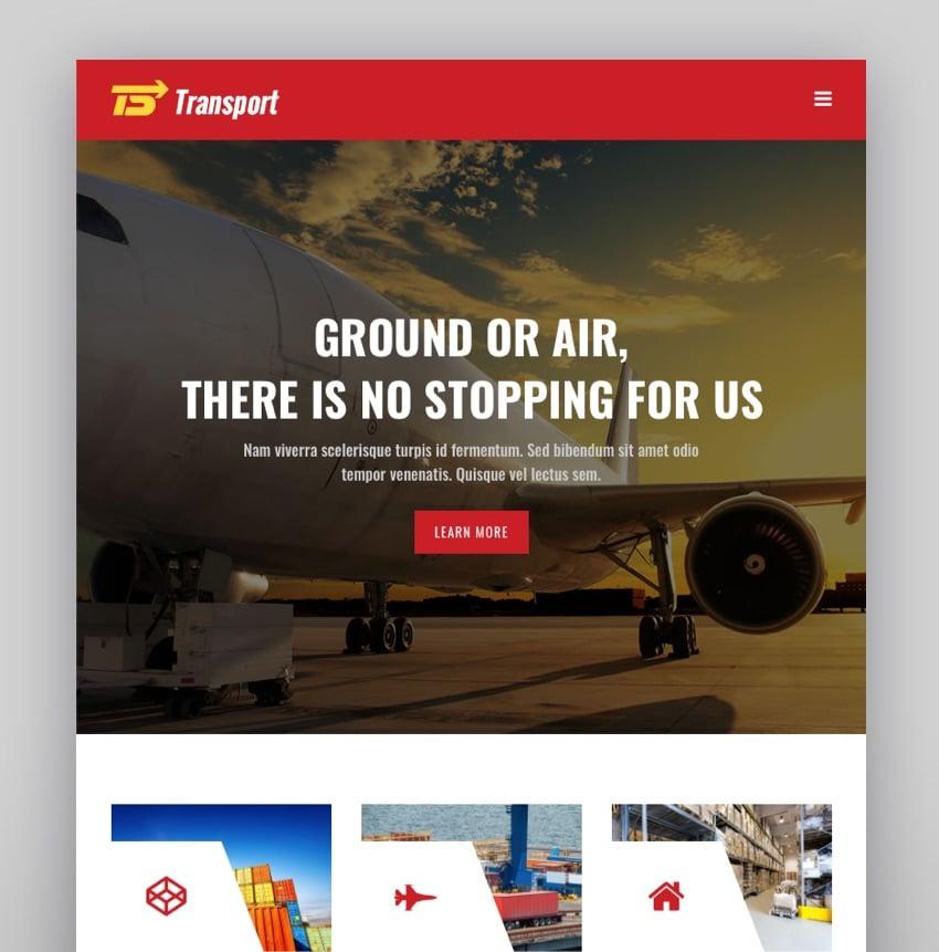 Transport - Logistic Warehouse WordPress Theme