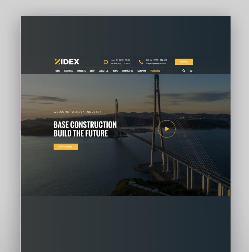 Zidex - Industrial Factory WordPress Theme