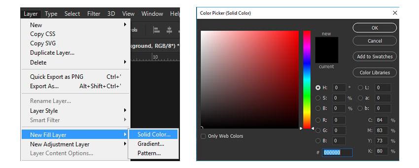 Black Solid Color BG