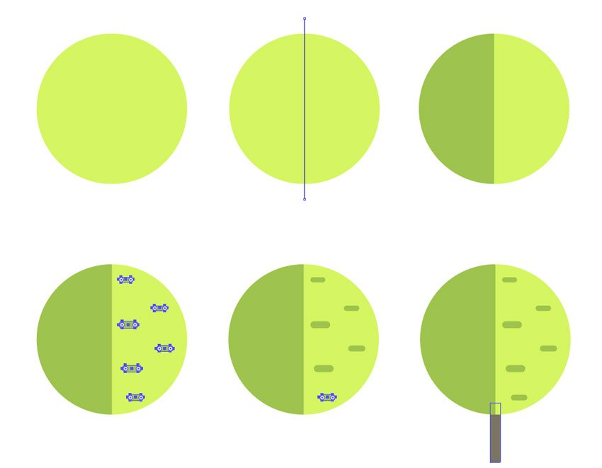 Building circle-like tree
