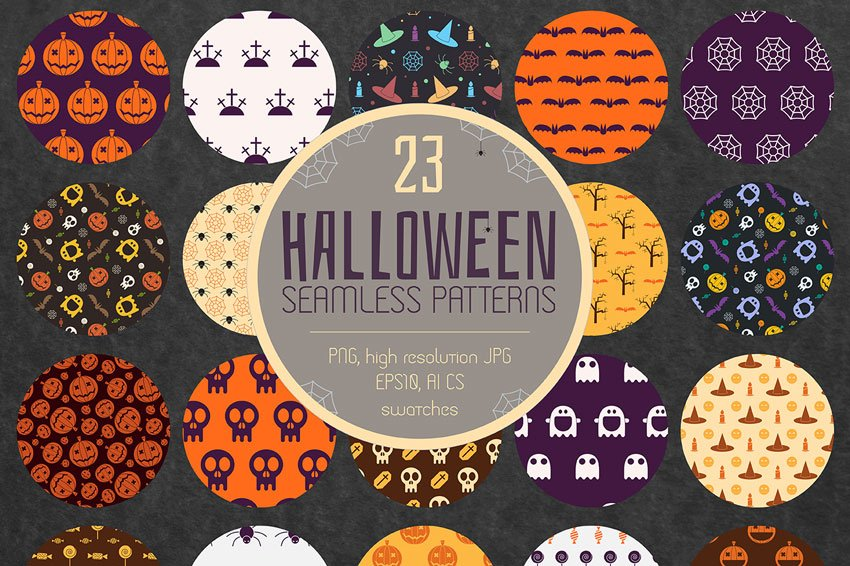 Halloween Seamless Patterns On GraphicRiver
