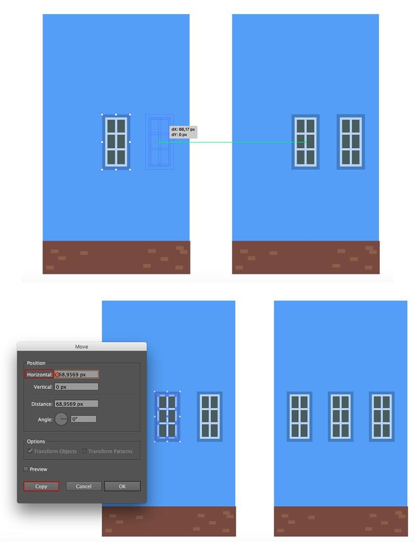 Creating a row of windows