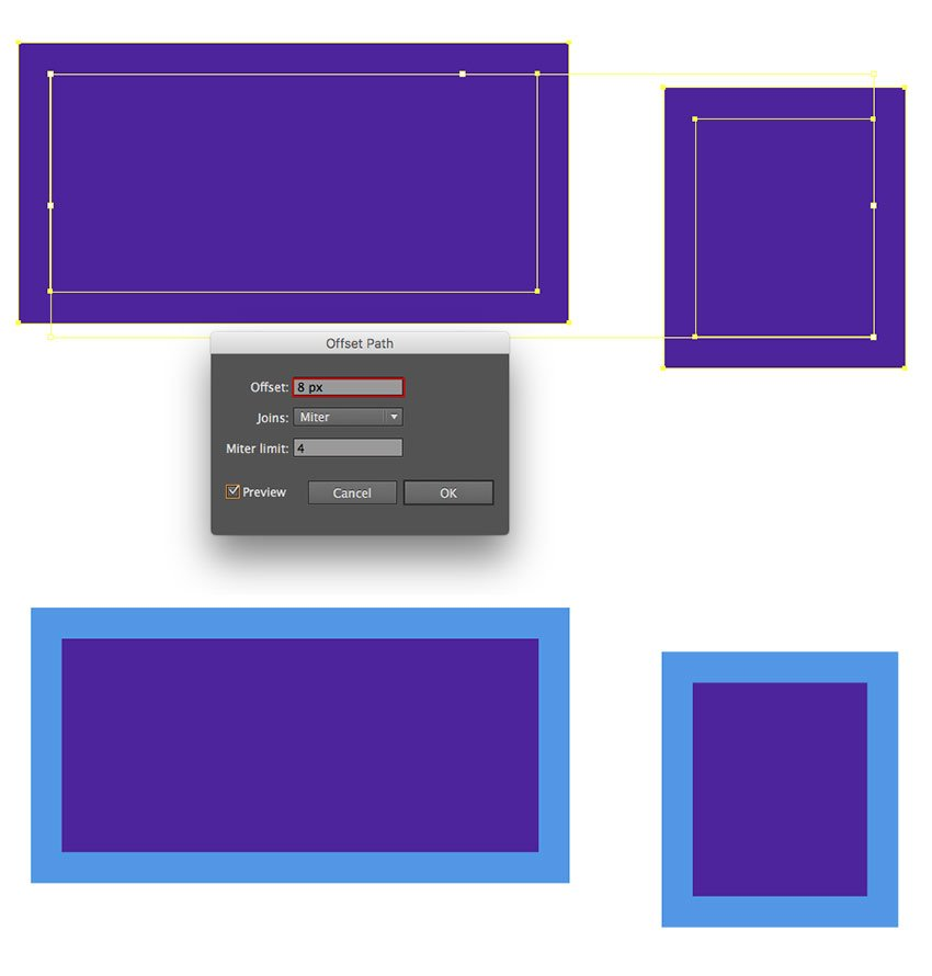Adding outlines to rectangles