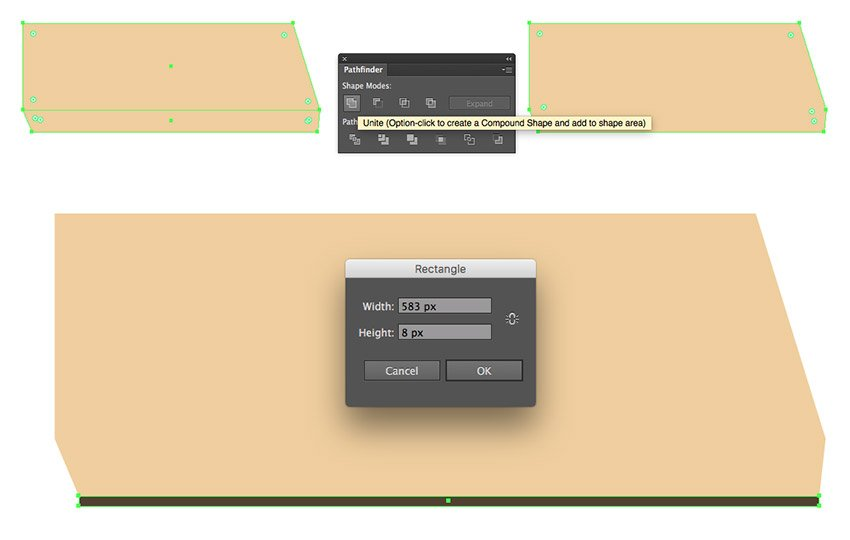 Merging the rectangles and adding a stripe