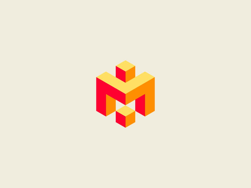 Completed geometric logo design with Inkscape