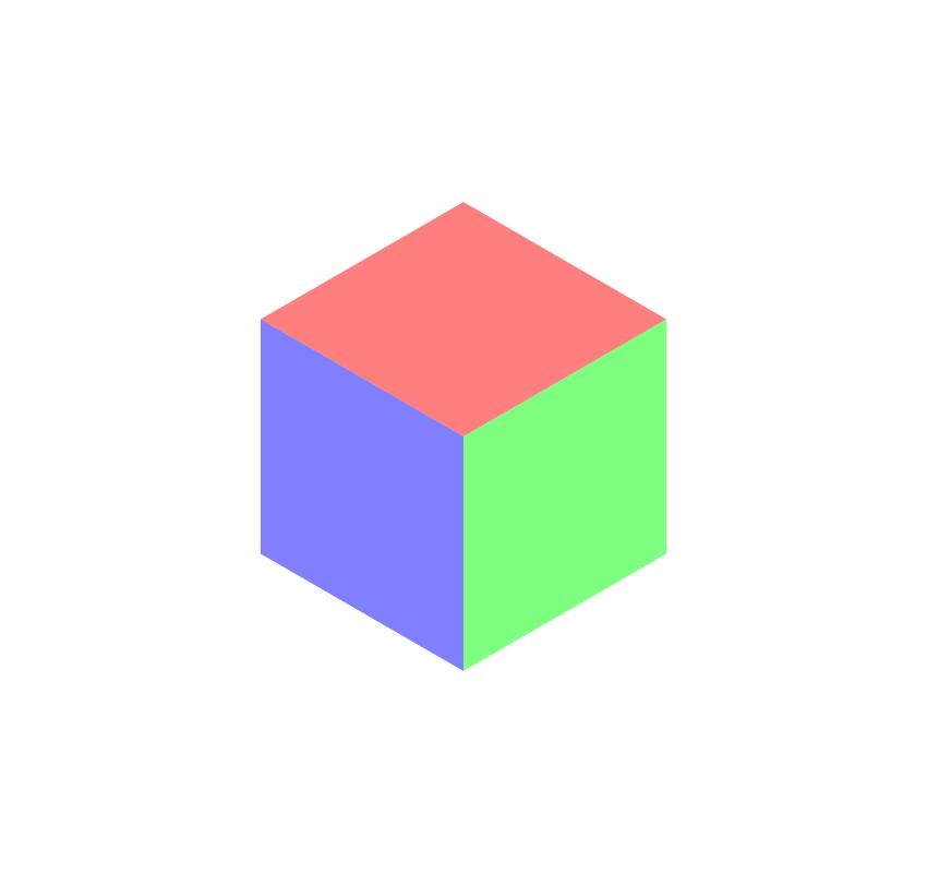 Three color polygon