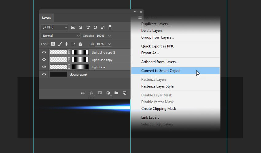 Converting layers to Smart Object