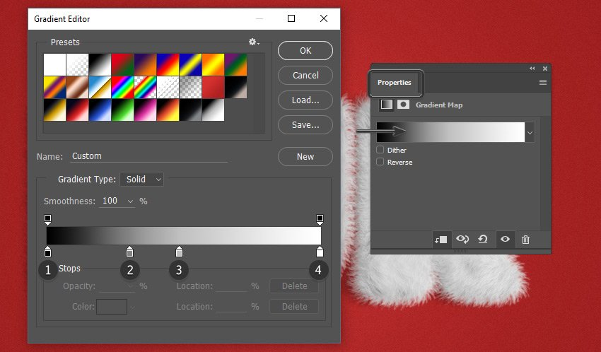 Opening the Gradient Editor