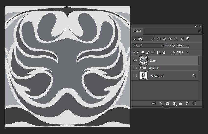 Selecting the layers and merging them