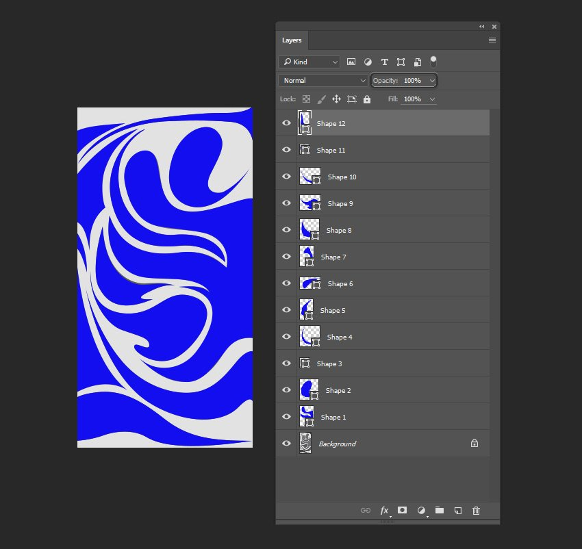 Changing the opacity of the layers to 100