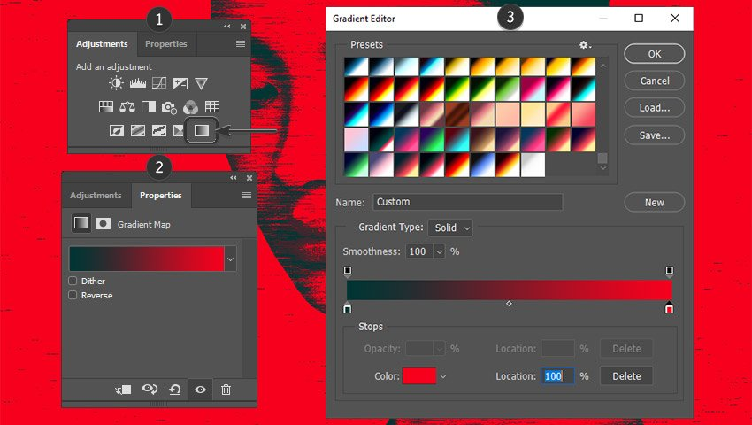 Adding a Gradient Map layer