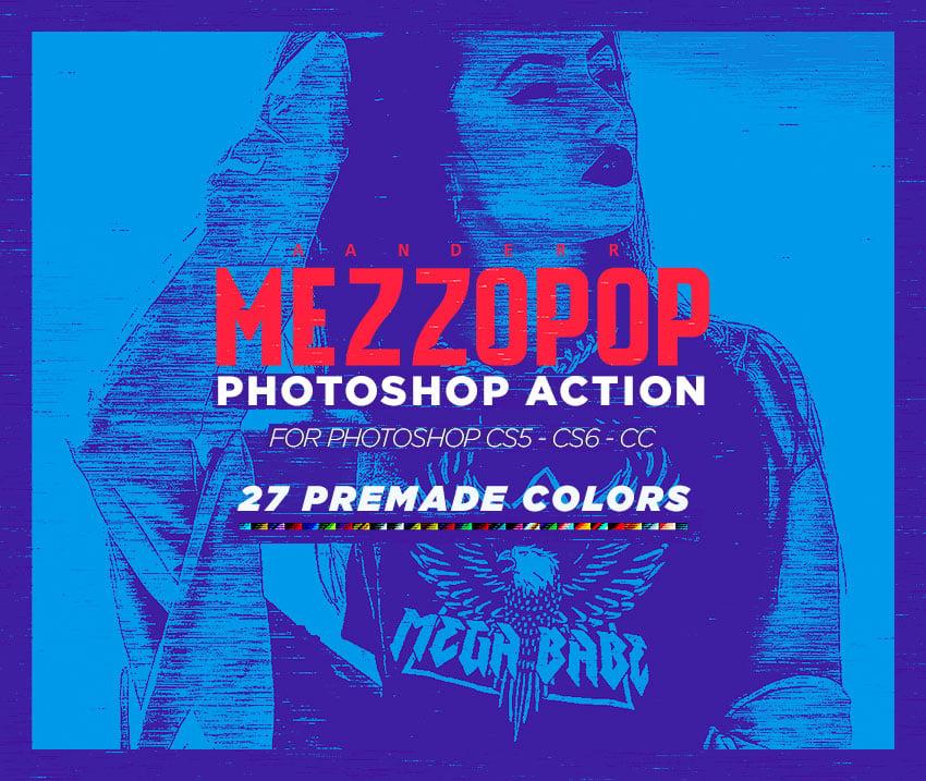 Mezzopop photoshop action promotion image