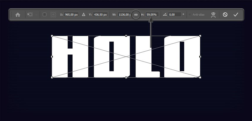 Scaling down the text layer