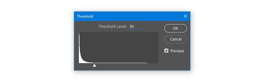Apply Threshold on the Layer Mask with Threshold level 50