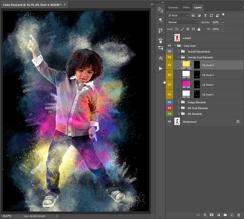Modify overlay dust element color