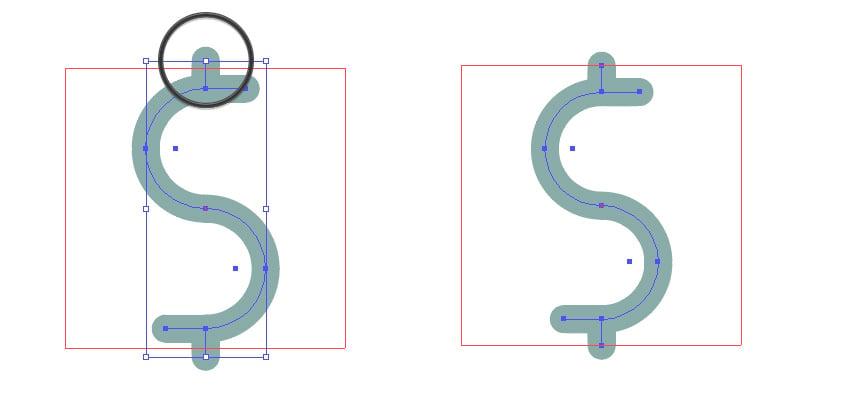 Scale the dollar symbol