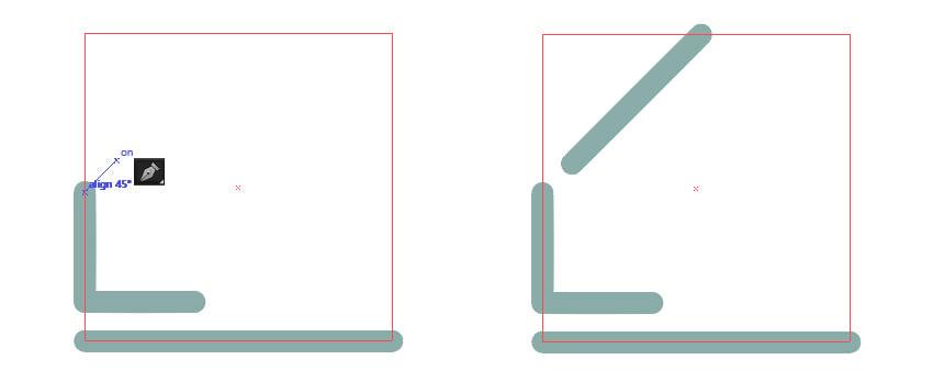 Create a 45 degrees Angle line