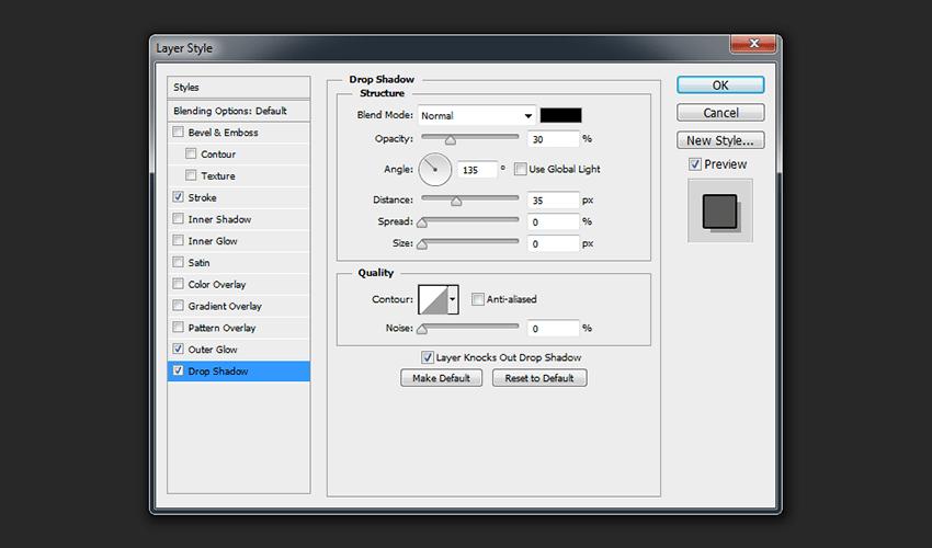 Merged Layer - Drop Shadow