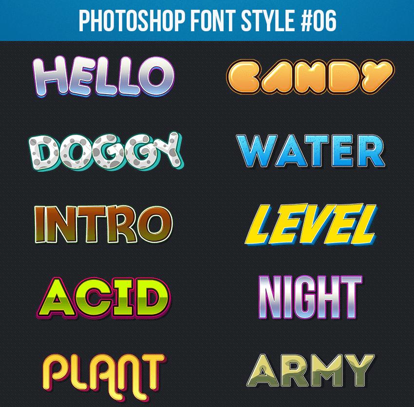Photoshop Font Style 06