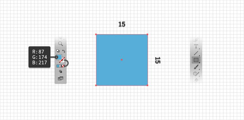 create the blue rectangle