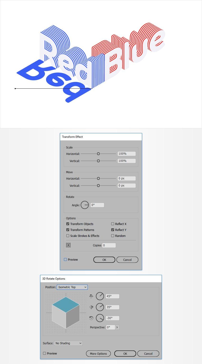 isometric text