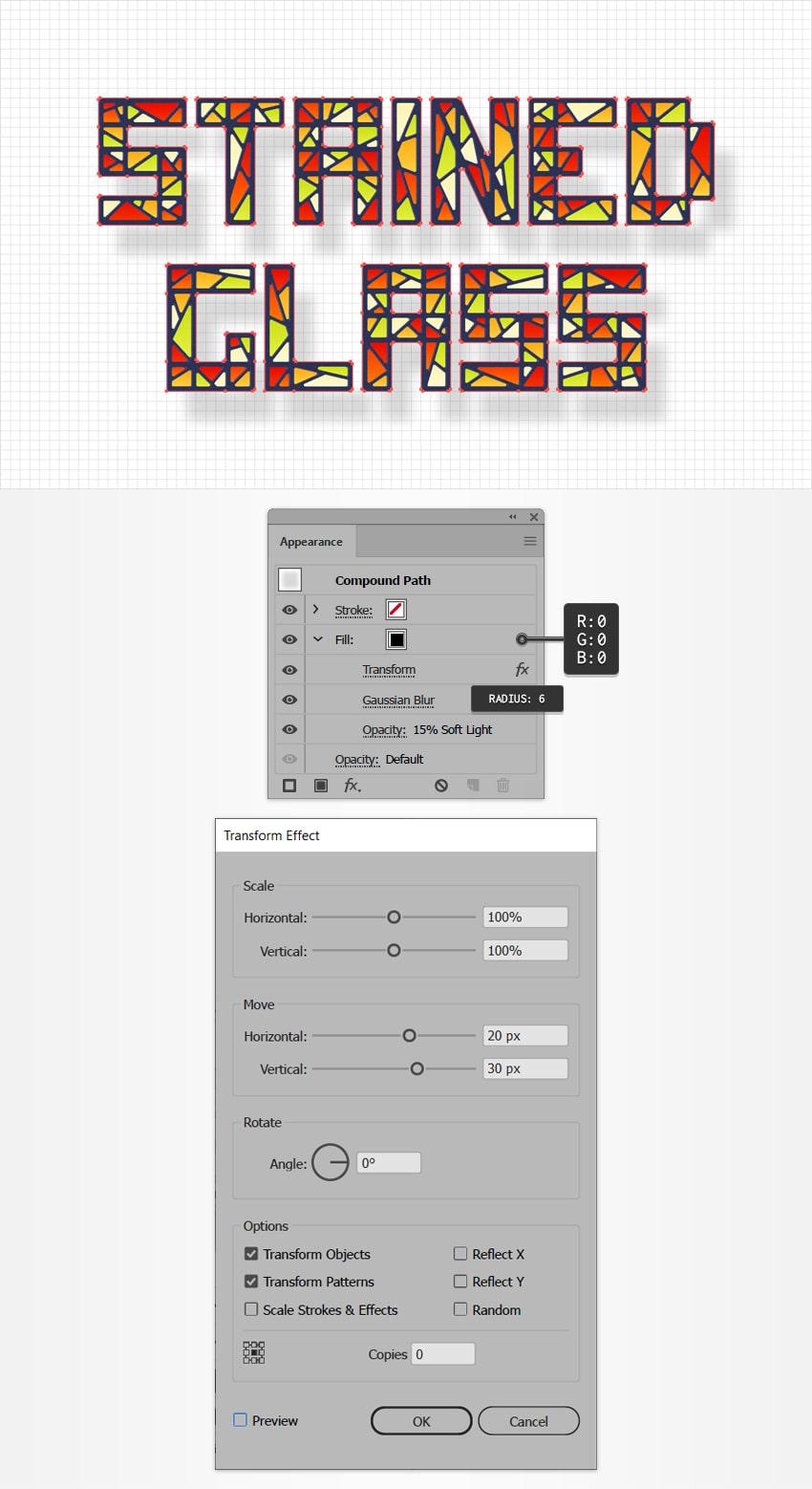 text design shadow