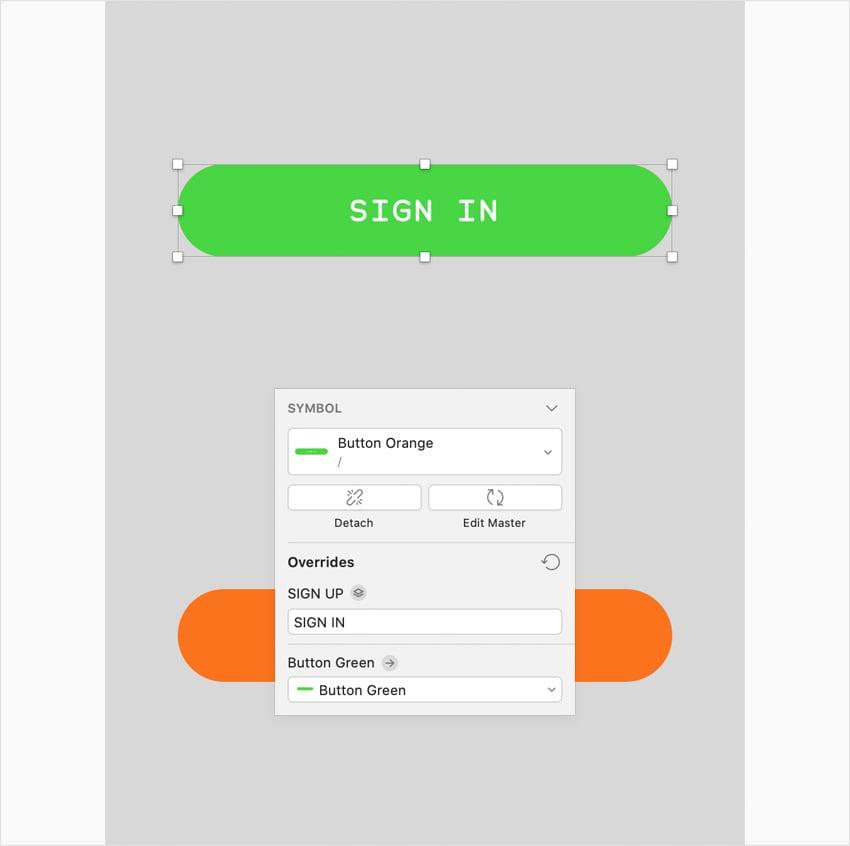 sketch UI design override