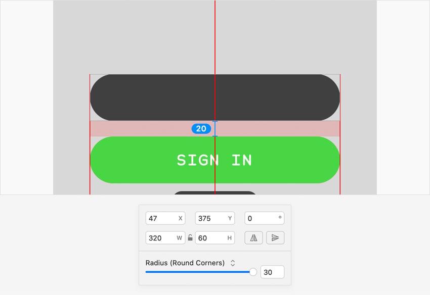 sketch design input field