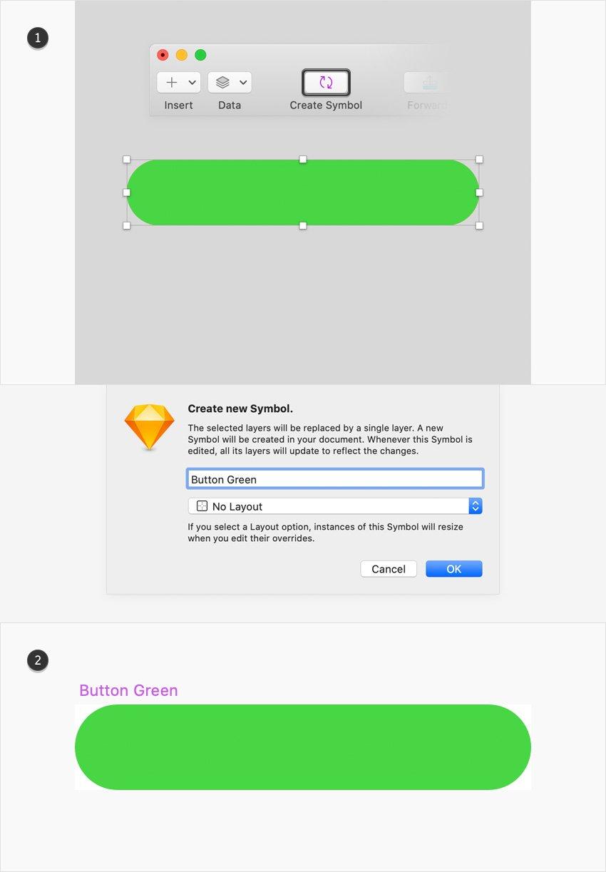sketch UI design nested symbol
