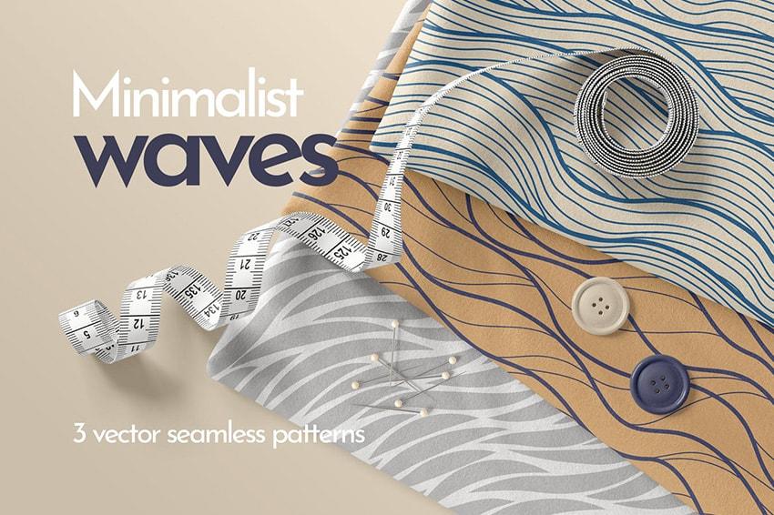 seamless waves patterns