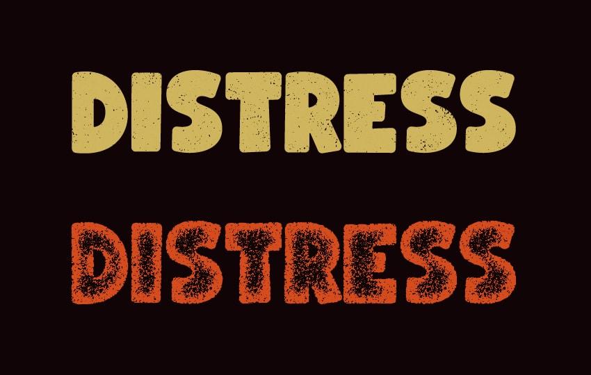 distressed font
