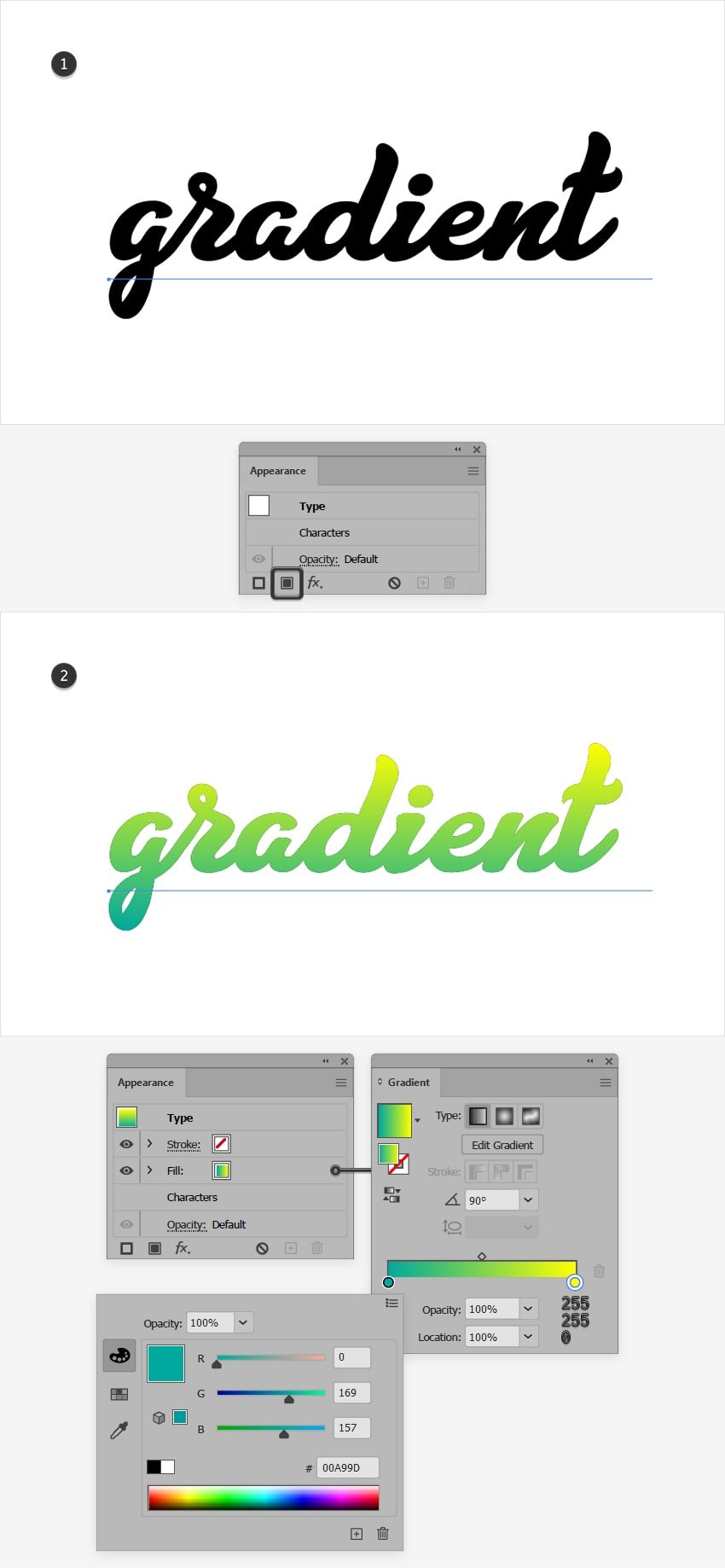 How To Make Gradient Text In Illustrator