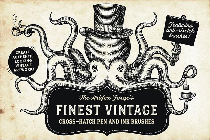 Finest Vintage Illustrator Brushes