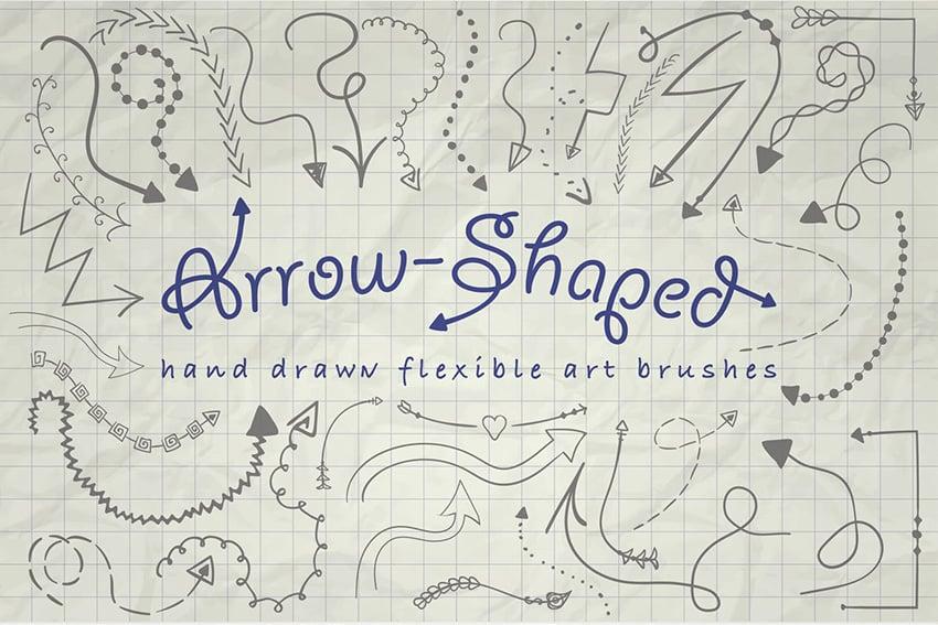 Arrow-Shaped Illustrator Brushes